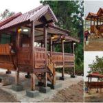 บ้านไม้ทรงไทยน็อคดาวน์ ยกพื้นสูง 2 ห้องนอน พร้อมศาลาพักผ่อน ให้กลิ่นอายบ้านไทยดั้งเดิม