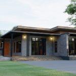 แบบบ้านชั้นเดียวสไตล์โมเดิร์นลอฟท์ มีดาดฟ้าพร้อมสระว่ายน้ำ 2 ห้องนอน 2 ห้องน้ำ พื้นที่ใช้สอย 125 ตร.ม.