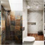 """24 ไอเดีย """"ผนังห้องน้ำลายหิน"""" สร้างบรรยากาศการอาบน้ำสุดหรู เคล้าความเย็นสดชื่นจากธรรมชาติ"""