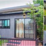 บ้านน็อคดาวน์สไตล์รีสอร์ท รูปทรงหน้าแคบหลังลึก 1 ห้องนอน 1 ห้องน้ำ พื้นที่ใช้สอยสุดกะทัดรัด 24 ตร.ม.ราคาเริ่มต้น 260,000 บาท