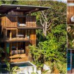 บ้านพักตากอากาศทรงสูง ดีไซน์งานไม้ทั้งหลัง ให้บรรยากาศการพักผ่อนที่กลมกลืนไปกับธรรมชาติ