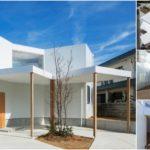 House in Hokusetsu บ้านกล่องสีขาว กับการออกแบบภายในที่โปร่งโล่ง ด้วยการวางองศาผนังให้แตกต่างกัน