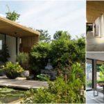 แบบบ้านหน้าแคบทรงลึก ตกแต่งด้วยไม้ไผ่ ดีไซน์เปิดโล่งรับธรรมชาติ พร้อมจัดสวนทั้งภายในและภายนอก