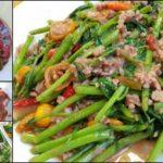 """ชวนทำกับข้าว """"ผักบุ้งผัดน้ำพริกกะปิ"""" ส่วนผสมความอร่อยที่ลงตัว เหมาะทานกับข้าวต้ม"""