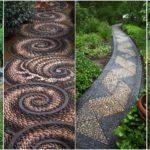"""50 ไอเดีย """"ทางเดินกรวด"""" เพิ่มความสวยงามให้กับสวนของคุณ ด้วยลวดลายหินคล้ายงานศิลปะ"""