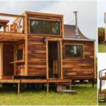 บ้านไม้เคลื่อนที่ พร้อมเฉลียงและดาดฟ้าเพื่อการพักผ่อน บ้านในฝันของนักเดินทาง