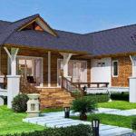 แบบบ้านชั้นเดียวยกพื้นทรงไทยประยุกต์ หลังคาทรงมะนิลา สวยสง่าแบบดั้งเดิม 2 ห้องนอน 2 ห้องน้ำ พื้นที่ใช้สอย 139 ตร.ม.