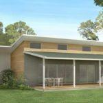 แบบบ้านชั้นเดียวสไตล์โมเดิร์นมินิมอล รูปทรงหน้ากว้าง เน้นความเรียบง่ายโปร่งโล่ง 3 ห้องนอน 2 ห้องน้ำ พื้นที่ใช้สอย 254 ตร.ม.