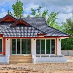 บ้านชั้นเดียวทรงไทยประยุกต์พร้อมบ่อน้ำเสริมฮวงจุ้ย 3 ห้องนอน 2 ห้องน้ำ พื้นที่ใช้สอย 120 ตร.ม.
