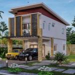 แบบบ้านสองชั้นทรงหน้าแคบ สไตล์โมเดิร์น 3 ห้องนอน 2 ห้องน้ำ ออกแบบสำหรับที่ดินขนาดจำกัด