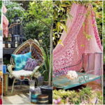 """20 ไอเดีย """"มุมนั่งเล่นในสวนสไตล์โบฮีเมียน"""" ที่ให้ความรู้สึกแปลกใหม่ ทั้งสดใสและสวยงาม"""