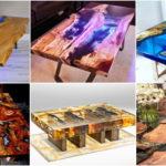 """20 ไอเดีย """"โต๊ะไม้เรซิน"""" สร้างความโดดเด่นให้กับบ้านอย่างง่ายๆ ด้วยสิ่งประดิษฐ์ลวดลายธรรมชาติ"""