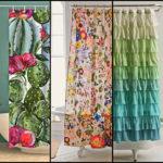 """49 ไอเดีย """"ผ้าม่านอาบน้ำ"""" ตกแต่งพื้นที่ผ่อนคลายด้วยลวดลายและสีสันที่เป็นเอกลักษณ์"""