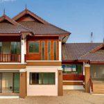 บ้านชั้นครึ่งทรงไทยประยุกต์ ดีไซน์เล่นระดับ เหมาะสำหรับครอบครัวใหญ่ 4 ห้องนอน 5 ห้องน้ำ พื้นที่ใช้สอย 185 ตร.ม.
