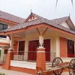 แบบบ้านยกพื้นสไตล์ไทยประยุกต์ หลังคาทรงมะนิลา 3 ห้องนอน 2 ห้องน้ำ พื้นที่ใช้สอย 190 ตร.ม.