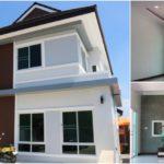 บ้านสองชั้นรูปทรงร่วมสมัย โทนสีสบายตา 3 ห้องนอน 4 ห้องน้ำ พื้นที่ใช้สอย 165 ตร.ม.