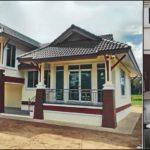 บ้านชั้นเดียวยกพื้นทรงไทยประยุกต์ เหมาะกับครอบครัวขนาดขนาดกลาง 3 ห้องนอน 2 ห้องน้ำ พื้นที่ใช้สอย 190 ตร.ม.