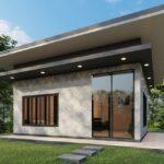 แบบบ้านโมเดิร์นลอฟท์ชั้นเดียว ดีไซน์ดิบเท่ด้วยปูนเปลือย ออกแบบพื้นที่เรียบง่ายกะทัดรัด 1 ห้องนอน 1 ห้องน้ำ พื้นที่ใช้สอย 30 ตร.ม.
