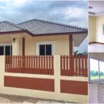 บ้านชั้นเดียวรูปทรงร่วมสมัย ดีไซน์หลังคาปั้นหยาเล่นระดับ 3 ห้องนอน 2 ห้องน้ำ พื้นที่ใช้สอย 100 ตร.ม.