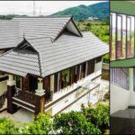 บ้านชั้นครึ่งทรงไทยประยุกต์ พร้อมใต้ถุนยกสูง 2 ห้องนอน 2 ห้องน้ำ  พื้นที่ใช้สอย 126 ตร.ม.