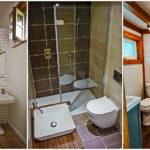 """21 ไอเดีย """"ห้องน้ำแคบ"""" สะดวกสบายน่าใช้งาน บรรยากาศไม่อึดอัดแม้พื้นที่น้อย"""
