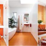 """32 ไอเดีย """"ห้องน้ำโทนสีส้ม"""" สีสันจี๊ดจ๊าด สดใสสะดุดตา เพิ่มความมีชีวิตชีวาให้กับห้องน้ำ"""