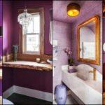 """34 ไอเดีย """"ห้องน้ำโทนสีม่วง"""" เปลี่ยนห้องน้ำธรรมดา ให้ดูหรูหรา ในสไตล์พระราชวัง"""