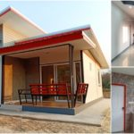 บ้านชั้นเดียวสไตล์โมเดิร์นหลังเล็กกะทัดรัด 2 ห้องนอน 1 ห้องน้ำ พร้อมเฉลียงพักผ่อนหน้าบ้าน พื้นที่ใช้สอย 60 ตร.ม.