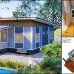 แบบบ้านสไตล์โมเดิร์นขนาดกะทัดรัดดีไซน์บ้านพักตากอากาศ 3 ห้องนอน 2 ห้องน้ำ พื้นที่ใช้สอย 84 ตร.ม.