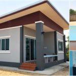 บ้านชั้นเดียวยกพื้นต่ำสไตล์โมเดิร์น 2 ห้องนอน 1 ห้องน้ำ พร้อมเฉลียงด้านหน้า พื้นที่ใช้สอย 66.50 ตร.ม.