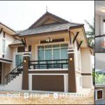 บ้านทรงไทยประยุกต์ชั้นครึ่ง หลังคามะนิลาคู่ 3 ห้องนอน 2 ห้องน้ำ เข้ากับสภาพอากาศเมืองไทย