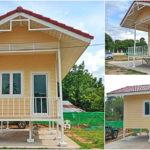 บ้านน็อคดาวน์สไตล์คันทรี ไอเดียบ้านพักขนาดเล็ก 1 ห้องนอน ก่อสร้างง่าย ขนย้ายได้รวดเร็ว
