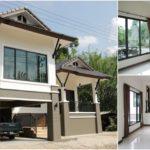 บ้านชั้นครึ่งทรงไทยประยุกต์ ผสมผสานระหว่างความดั้งเดิมและความทันสมัย 3 ห้องนอน 3 ห้องน้ำ พื้นที่ใช้สอย 160 ตร.ม.