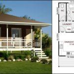 แบบบ้านพักตากอากาศริมทะเล ดีไซน์ยกพื้นสูง 1 ห้องนอน 1 ห้องน้ำ พื้นที่ใช้สอย 58 ตร.ม.