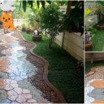 """พาไปชม """"สวนหินน้อยๆ"""" เปลี่ยนพื้นที่ข้างบ้านรกๆ ให้กลายเป็นสวนพร้อมทางเดิน สวยงาม สะอาดตา"""