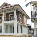 บ้านสองชั้นทรงไทยประยุกต์ ดีไซน์ยกใต้ถุนสูง พร้อมการตกแต่งสุดหรู 3 ห้องนอน 2 ห้องน้ำ พื้นที่ประมาณ 170 ตร.ม.