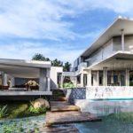บ้านโมเดิร์นสีขาวสุดหรู หลังใหญ่ พร้อมสระว่ายน้ำกึ่งเอาท์ดอร์ หรูหราสวยงามสไตล์รีสอร์ท
