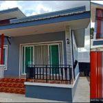บ้านชั้นเดียวสไตล์โมเดิร์นขนาดกะทัดรัด ตกแต่งด้วยโทนสีเทา พื้นที่ใช้สอย 84 ตร.ม.