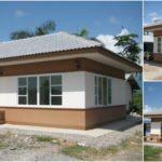 บ้านชั้นเดียวทรงปั้นหยา ขนาดกะทัดรัด ราคาประหยัด 1 ห้องนอน 1 ห้องน้ำ พื้นที่ใช้สอย 35.75 ตร.ม. งบก่อสร้าง 350,000 บาท
