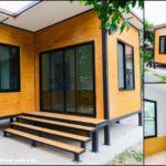 บ้านชั้นเดียวสไตล์โมเดิร์น โทนสีอบอุ่นเรียบง่ายครบทุกฟังก์ชันการใช้งาน 2 ห้องนอน 1 ห้องน้ำ พื้นที่ใช้สอย 40 ตร.ม. งบประมาณ 419,000 บาท