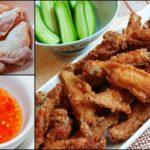 """ชวนทำ """"ไก่ตะเกียบ"""" ปีกไก่ทอดกรุบกรอบ ชิ้นเล็กทานง่าย เสิร์ฟพร้อมข้าวเหนียวและน้ำจิ้มไก่"""