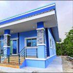 บ้านโมเดิร์นขนาดกระทัดรัด ตกแต่งในโทนสีฟ้าสดใส 2 ห้องนอน 1 ห้องน้ำ พร้อมเฉลียงเปิดโล่ง