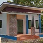 บ้านชั้นเดียวสไตล์โมเดิร์น สุดกะทัดรัด 1 ห้องนอน 1 ห้องน้ำ สำหรับที่ดินขนาดเล็ก ราคาประหยัด