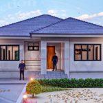 แบบบ้านชั้นเดียวสไตล์คอนเทมโพรารี ออกแบบสวยงามแต่เรียยบง่าย 2ห้องนอน 2ห้องน้ำ พื้นที่ 130 ตร.ม.