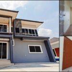 แบบบ้านสองชั้นสไตล์โมเดิร์น โทนสีฟ้าอมเทาดีไซน์สวยหรู พิถีพิถันทุกอณูพื้นที่ 3 ห้องนอน 3 ห้องน้ำ พื้นที่ใช้สอย 170 ตร.ม.