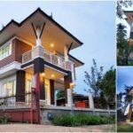 บ้านสองชั้นทรงไทยประยุกต์ ออกแบบใต้ถุนยกสูง 3 ห้องนอน 2 ห้องน้ำ พื้นที่ใช้สอย 180 ตร.ม.
