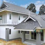บ้านสองชั้นทรงไทยประยุกต์ ออกแบบพื้นที่ใช้สอยกว้างขวาง 3 ห้องนอน 5 ห้องน้ำ พื้นที่ 185 ตร.ม.