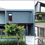 บ้านสองชั้นสไตล์โมเดิร์น โทนสีเทาเรียบหรู พร้อมเฟอร์นิเจอร์บิวท์อินทั้งหลัง