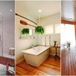 """25 ไอเดีย """"ห้องน้ำสีขาวและงานไม้"""" โปร่งสบายน่าใช้งาน พร้อมความอบอุ่นจากธรรมชาติ ผ่อนคลายทุกครั้งที่ใช้งาน"""