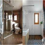 """25 ไอเดีย """"ห้องน้ำแคบที่ดูกว้าง"""" จัดสรรองค์ประกอบอย่างลงตัว ใช้พื้นที่อย่างคุ้มค่า พร้อมดีไซน์สวยงามน่าใช้งาน"""